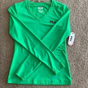 Brand new fila long sleeve shirt